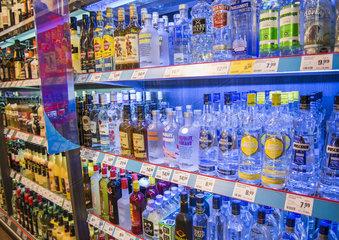 Spirituosen im Supermarkt