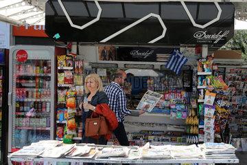 GREECE-ATHENS-TRADITIONAL STREET KIOSKS-LOSING