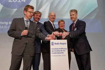 Blankenfelde-Mahlow  Deutschland  Rolls-Royce eroeffnet neuen Teststand fuer Grosstriebwerke