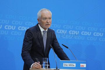 Pressekonferenz CDU  Konrad Adenauer Haus