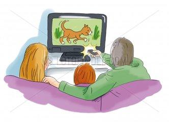 Familie sieht fern - Serie Familie
