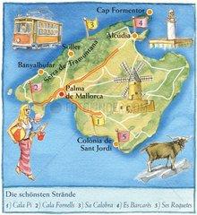 Mallorca _ illustrierte Landkarte