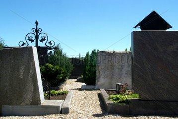 Friedhof Grabsteine Weg