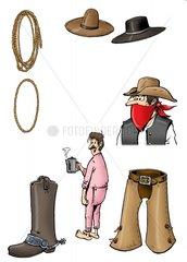 Serie Wilder Westen - Cowboykleidung