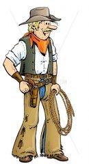 Serie Wilder Westen Cowboy steht