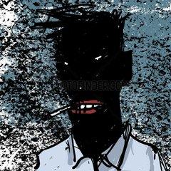 Schwarzer Raucher