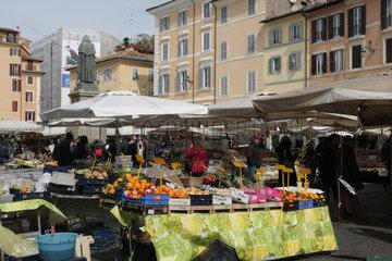 Campo de Fiori Markt in Rom