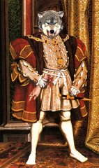 HENRY VIII a Victorian engraving based on Holbein portrait of 1537