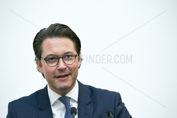Berlin  Deutschland - Bundesverkehrsminister Andreas Scheuer.