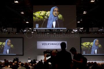 Hessa Sultan Al Jaber  VW Hauptversammlung
