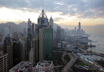 Hong Kong  China  Blick auf Hong Kong Island