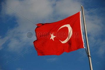 Wehende Tuerkische Nationalflagge