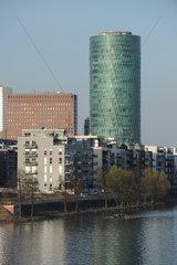 Frankfurt am Main  Deutschland  der Westhafen-Tower im Frankfurter Gutleutviertel