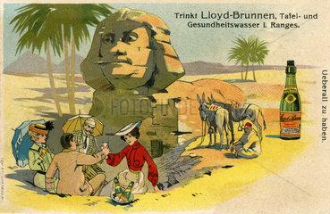 Werbung fuer Tafelwasser Lloyd-Brunnen  1900