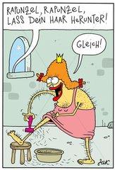 Rapunzel rasiert sich