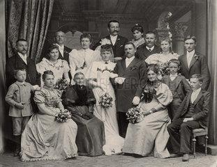 Hochzeitsfoto  Brautpaar  1910