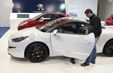 Posen  Polen  der Peugeot RCZ auf der Motor Show 2013