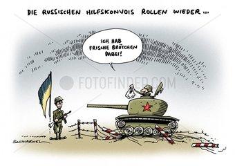 Ostukraine russisches Militaer Panzer