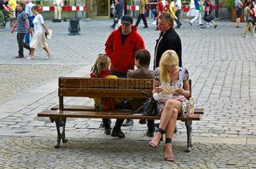 Breslau  Polen  Menschen auf dem Marktplatz