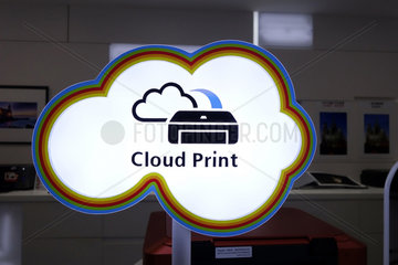Hong Kong  China  Hinweisschild - Cloud Print -