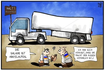 Ukrainische Zollkontrolle