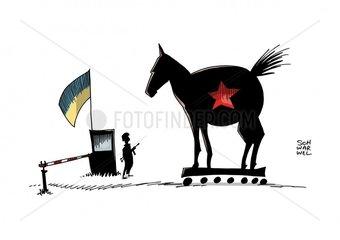 Ukraine : Kiew will russischen Hilfskonvoi nicht ins Land lassen