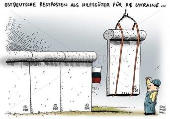 Ukraine-Krise : Ukraine erwaegt Mauerbau