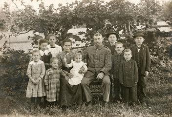 kinderreiche Familie  1915