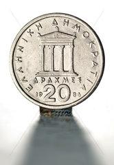 Alte griechische Muenze