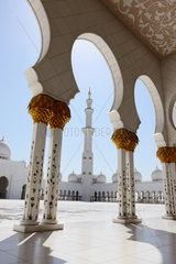 Abu Dhabi  Vereinigte Arabische Emirate  die Scheich Zayid bin Sultan Al Nahyan Moschee