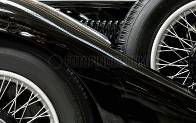 Flanke eines Jaguar Oldtimers aus den 1930er Jahren