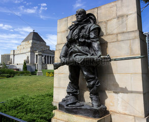 Wipers statue at Shrine of Remembrance Melbourne