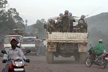 Kibati  Demokratische Republik Kongo  mit MONUC-Soldaten besetzter LKW