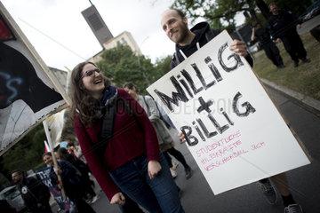 Demonstration studentischer Beschaeftigter