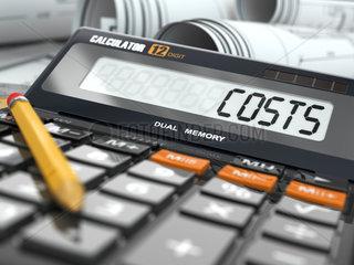 Concept of costs calculation  Calculator.