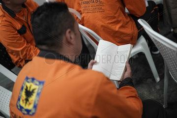 COLOMBIA-BOGOTA-PRISON-LIBRARY