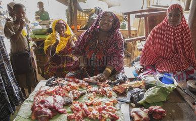 Verkauf von Fleisch in Sokode