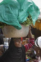 Afrikanische Marktfrau in Sokode