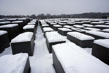 Holocaust Mahnmal im Winter