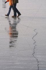 Sprung im Eis Lebensgefahr  Havel