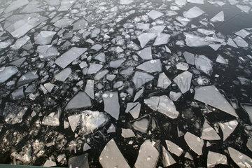 Eisschollen auf der Havel