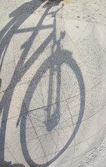 Berlin  Deutschland  Silhouette eines Fahrrads