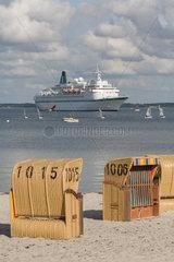 Eckernfoerde  Deutschland  Kreuzfahrtschiff Albatros in der Eckernfoerder Bucht