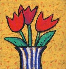 Pflanze rote Tulpen