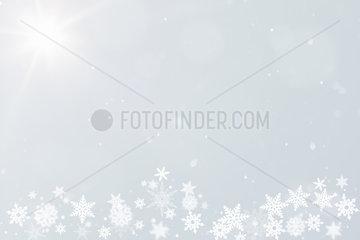 Winter Hintergrund fuer Postkarte