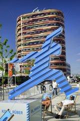 Symbol der IBA Hamburg bei der Internationalen Gartenschau in Wilhelmsburg  Hamburg  Deutschland