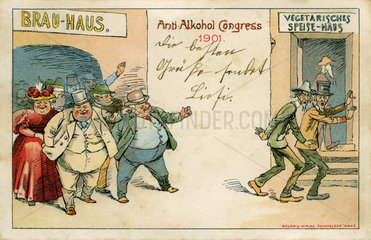 Anti Alkohol Kongress  Humor  1901