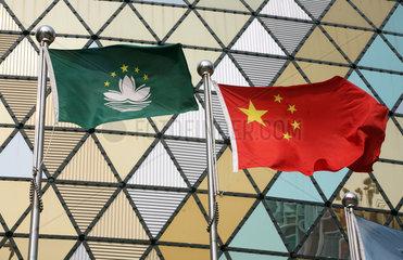 Macau  China  Nationalfahnen von Macau und China