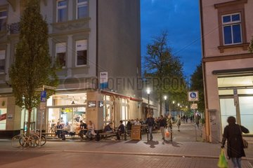 Johannette-Lein-Gasse in evening light
