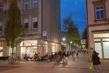 Johannette-Lein-Gasse im Abendlicht